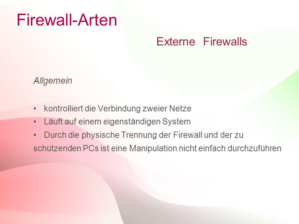 Firewall-Arten Externe Firewalls