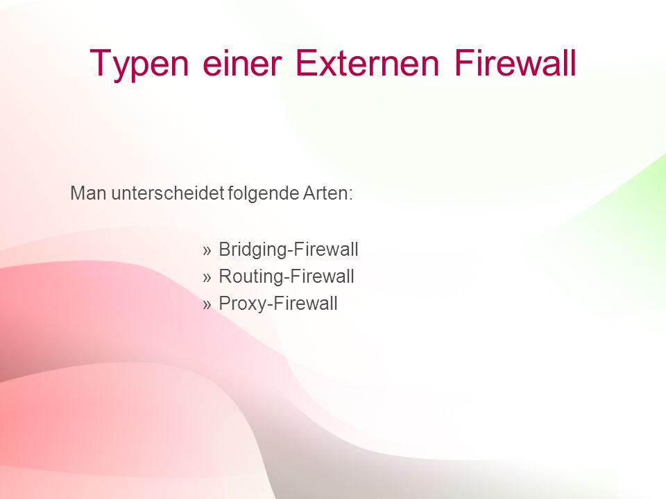 Typen einer Externen Firewall