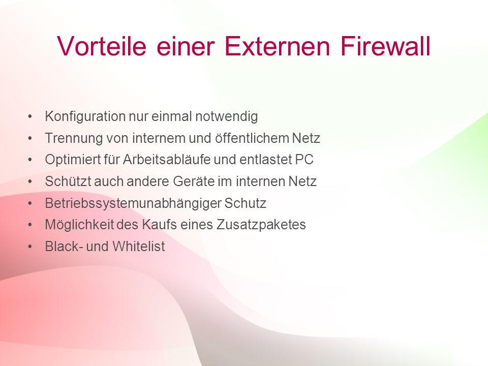 Vorteile einer Externen Firewall