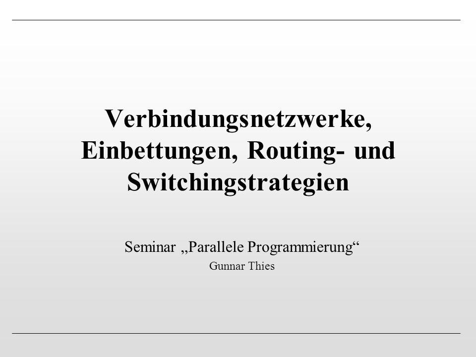 Verbindungsnetzwerke, Einbettungen, Routing- und Switchingstrategien
