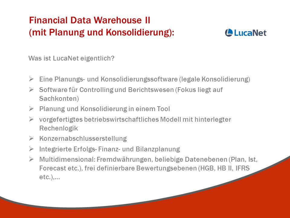 Financial Data Warehouse II (mit Planung und Konsolidierung):