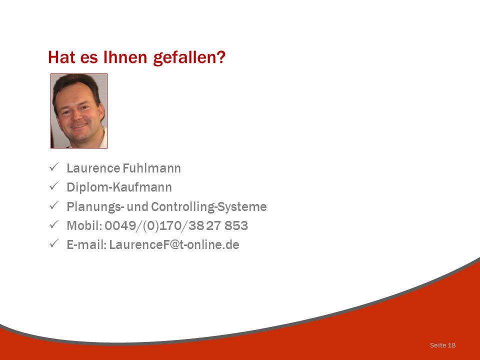 Hat es Ihnen gefallen Laurence Fuhlmann Diplom-Kaufmann