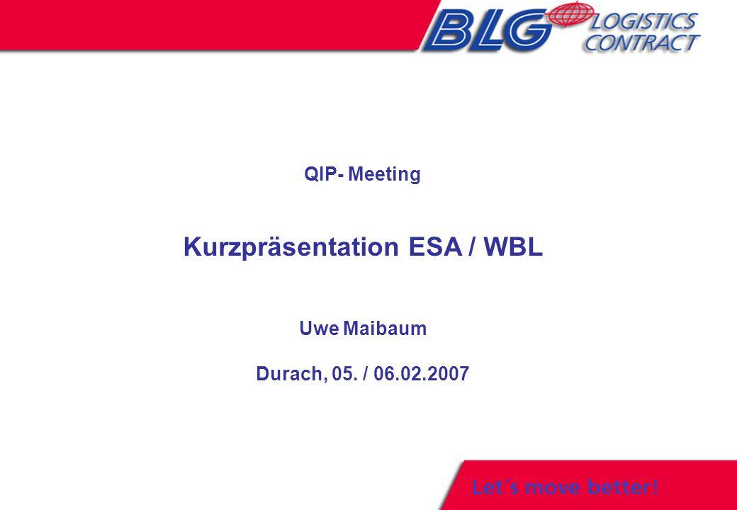 Kurzpräsentation ESA / WBL
