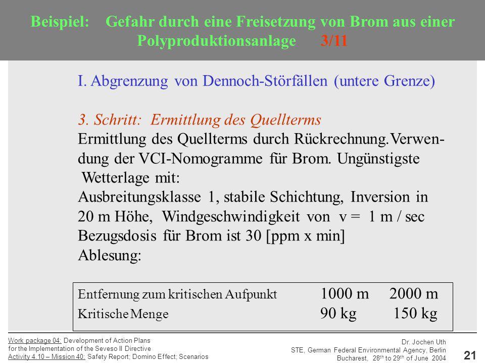 I. Abgrenzung von Dennoch-Störfällen (untere Grenze)