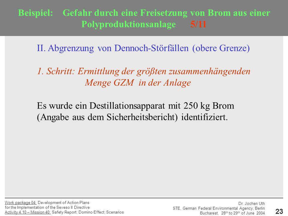 Beispiel: Gefahr durch eine Freisetzung von Brom aus einer Polyproduktionsanlage 5/11