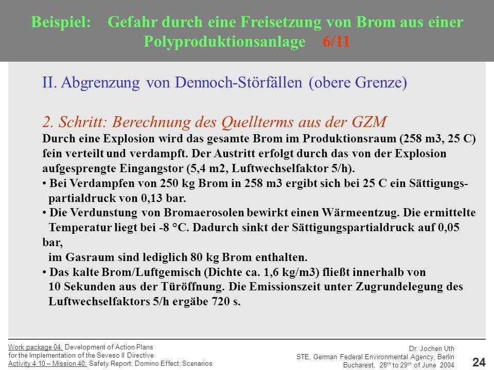 II. Abgrenzung von Dennoch-Störfällen (obere Grenze)