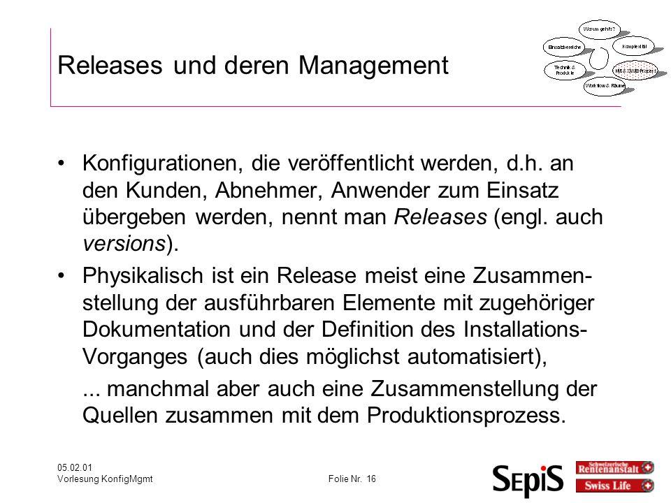 Releases und deren Management