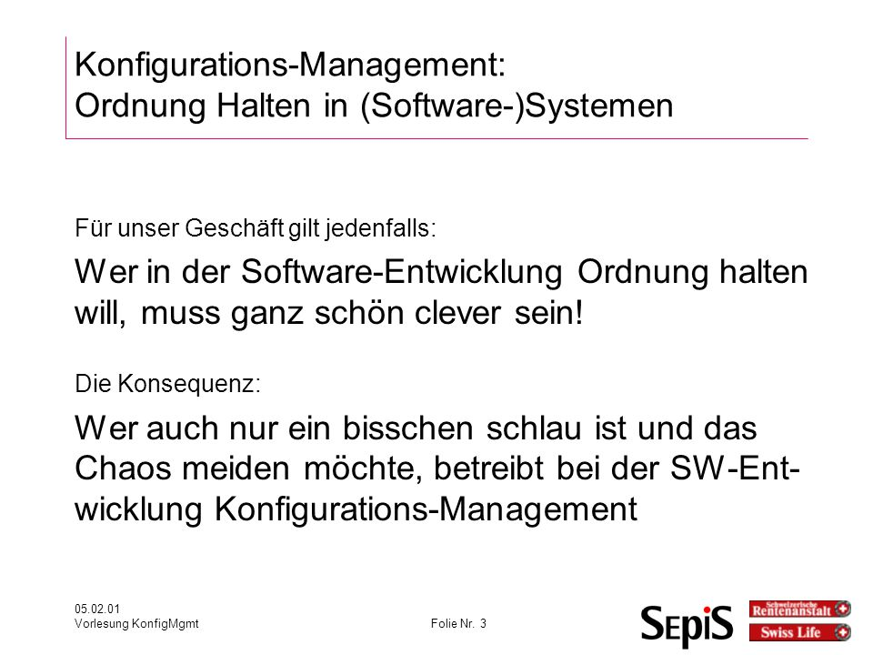 Konfigurations-Management: Ordnung Halten in (Software-)Systemen