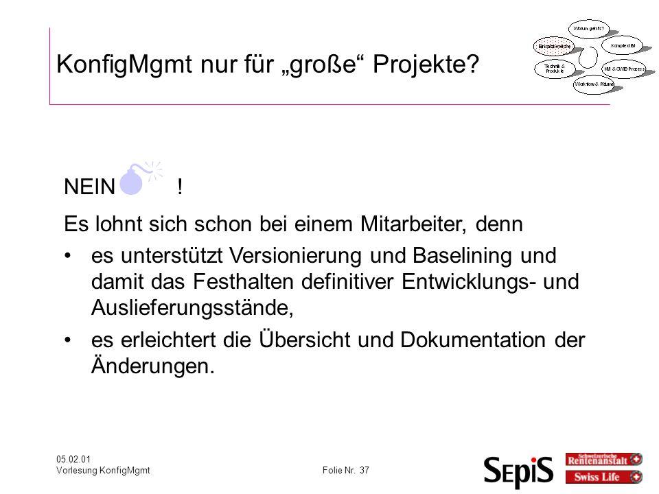 """KonfigMgmt nur für """"große Projekte"""