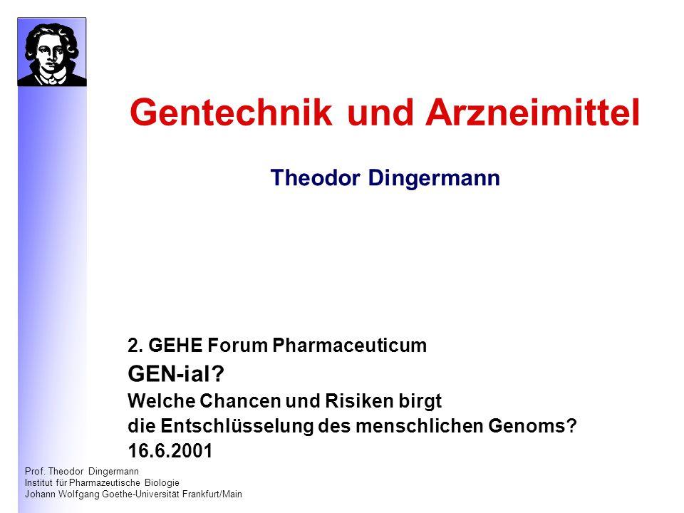 Gentechnik und Arzneimittel