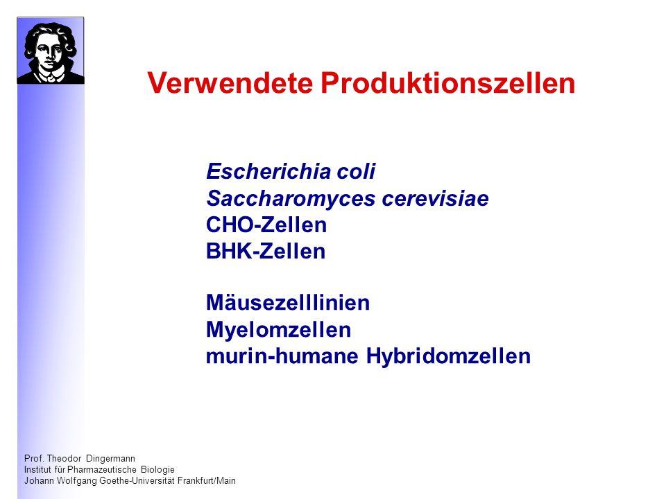 Verwendete Produktionszellen
