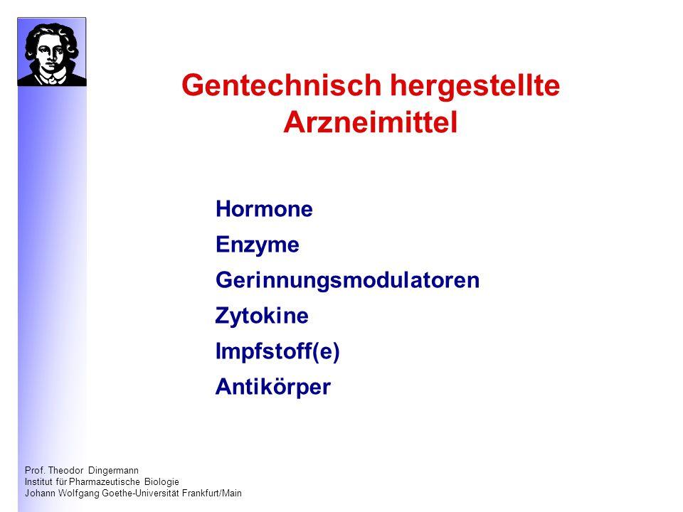Gentechnisch hergestellte Arzneimittel