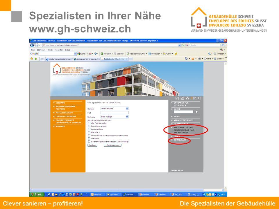 Spezialisten in Ihrer Nähe www.gh-schweiz.ch
