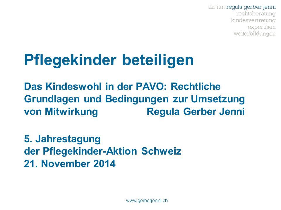 5. Jahrestagung der Pflegekinder-Aktion Schweiz 21. November 2014