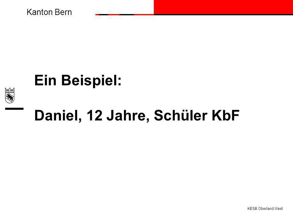 Ein Beispiel: Daniel, 12 Jahre, Schüler KbF