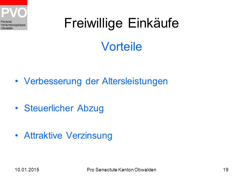 Pro Senectute Kanton Obwalden