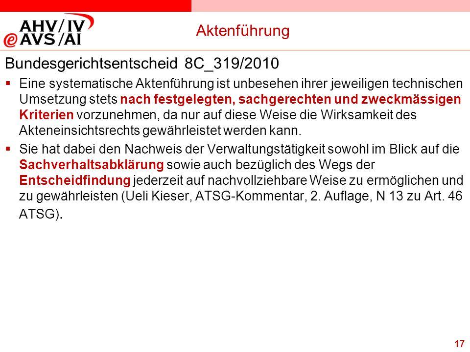 Bundesgerichtsentscheid 8C_319/2010