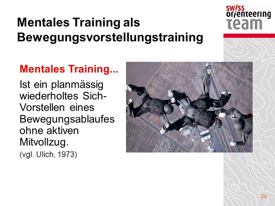 Mentales Training als Bewegungsvorstellungstraining