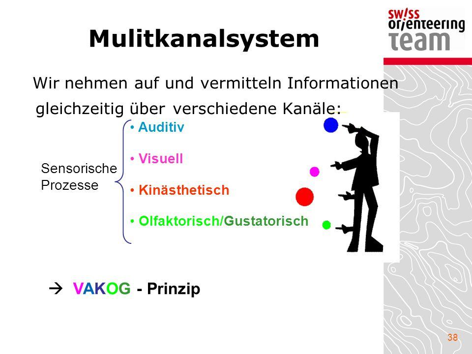 Mulitkanalsystem Wir nehmen auf und vermitteln Informationen gleichzeitig über verschiedene Kanäle: