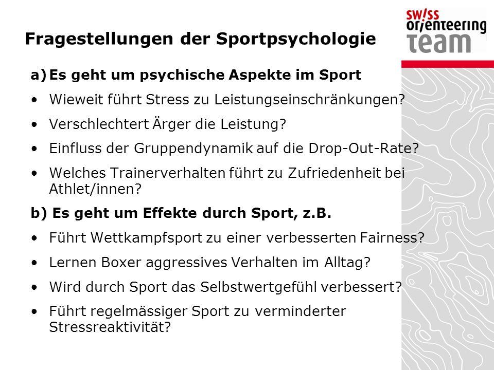 Fragestellungen der Sportpsychologie