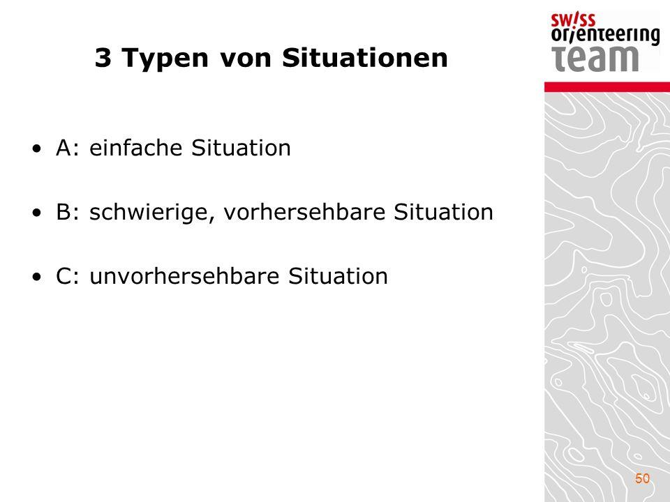 3 Typen von Situationen A: einfache Situation