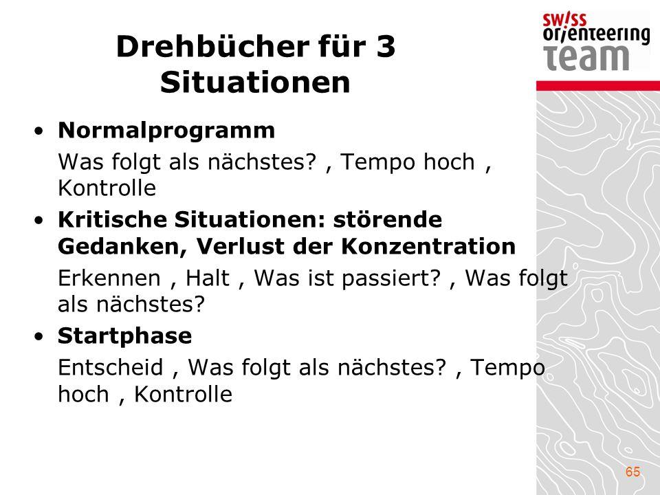 Drehbücher für 3 Situationen