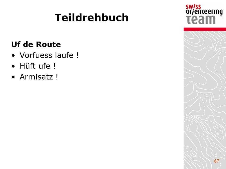 Teildrehbuch Uf de Route Vorfuess laufe ! Hüft ufe ! Armisatz !