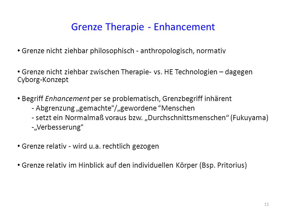 Grenze Therapie - Enhancement