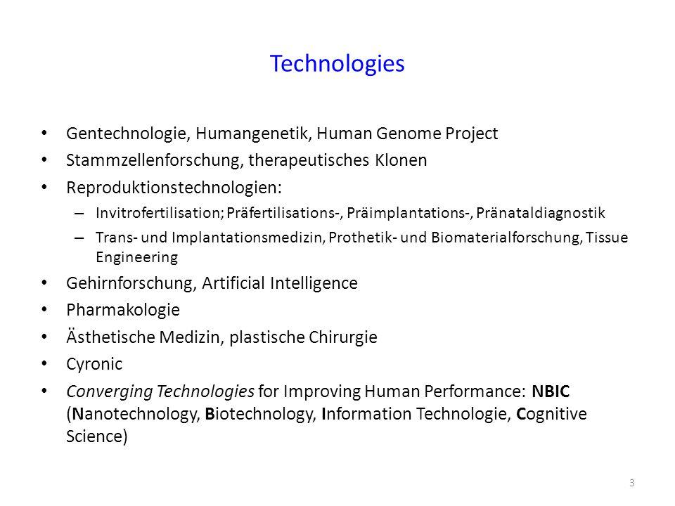 Technologies Gentechnologie, Humangenetik, Human Genome Project