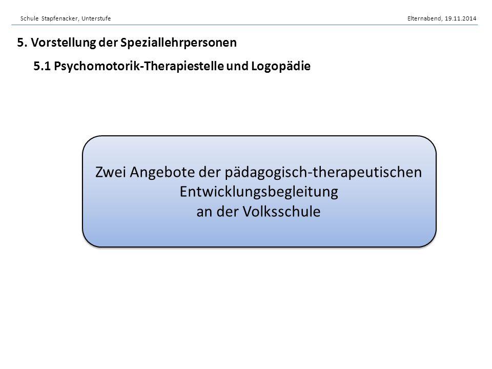 Zwei Angebote der pädagogisch-therapeutischen Entwicklungsbegleitung