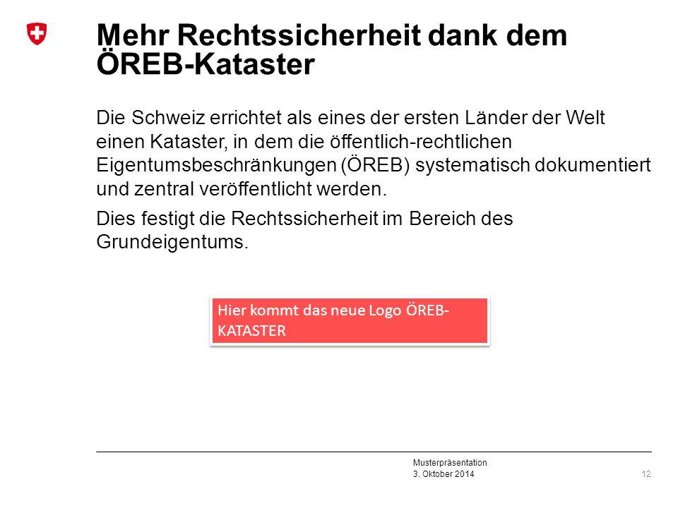 Mehr Rechtssicherheit dank dem ÖREB-Kataster