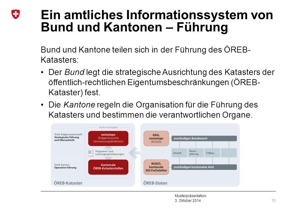 Ein amtliches Informationssystem von Bund und Kantonen – Führung