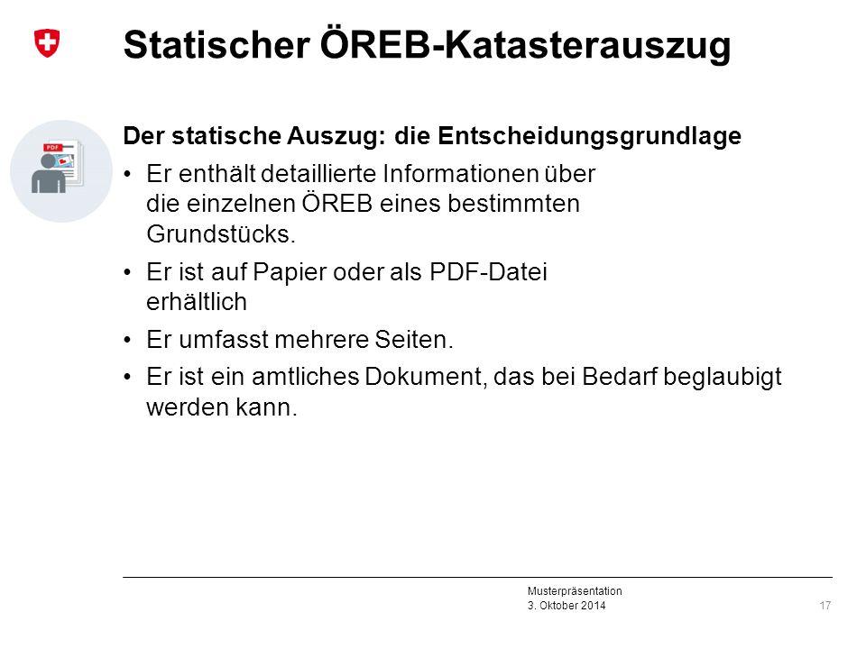 Statischer ÖREB-Katasterauszug