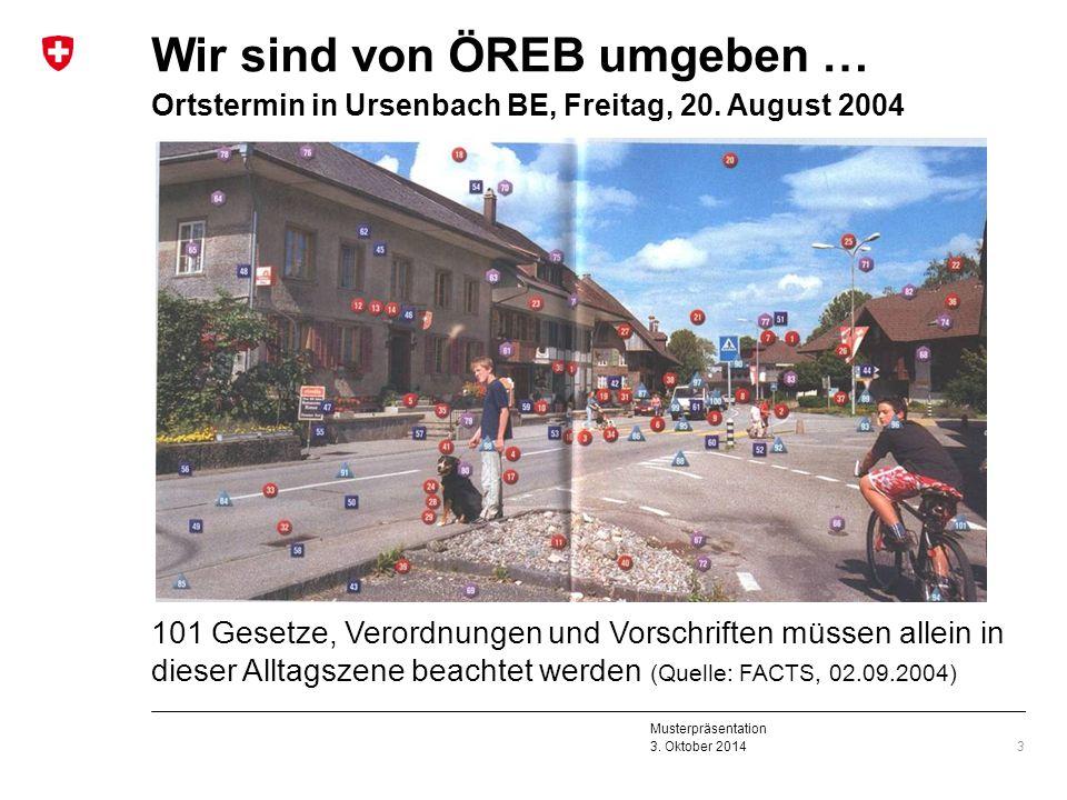 Wir sind von ÖREB umgeben … Ortstermin in Ursenbach BE, Freitag, 20