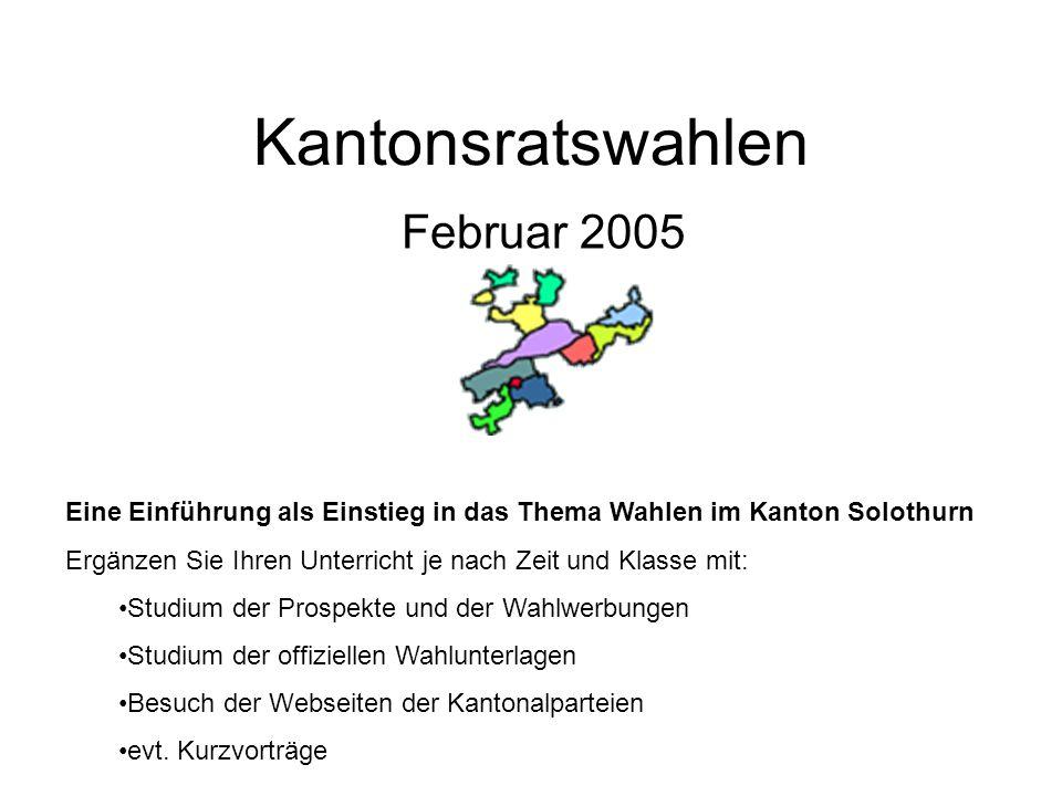 Kantonsratswahlen Februar 2005