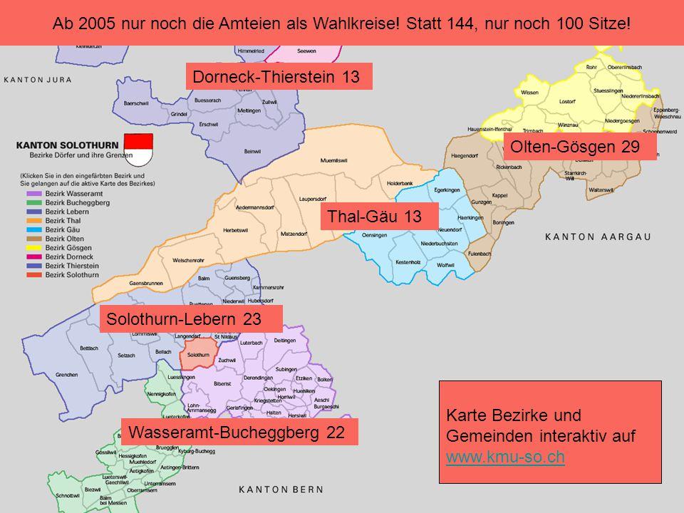 Ab 2005 nur noch die Amteien als Wahlkreise