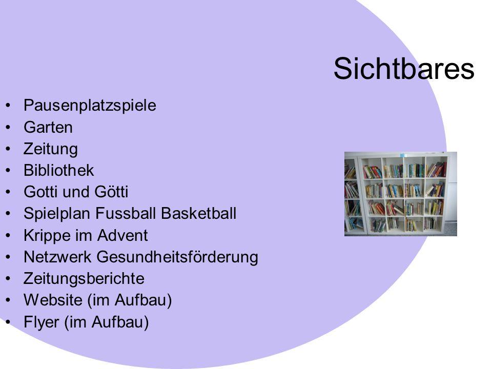 Sichtbares Pausenplatzspiele Garten Zeitung Bibliothek Gotti und Götti
