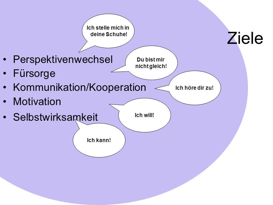 Ziele Perspektivenwechsel Fürsorge Kommunikation/Kooperation