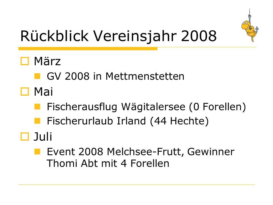 Rückblick Vereinsjahr 2008
