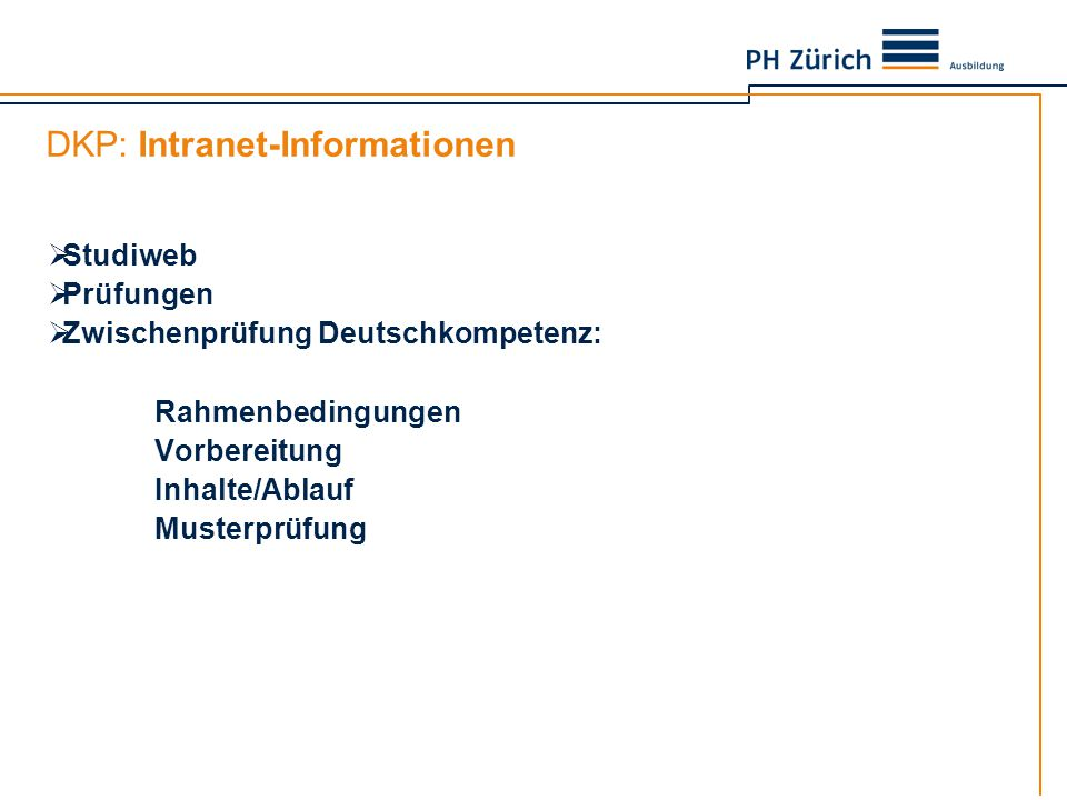 DKP: Intranet-Informationen