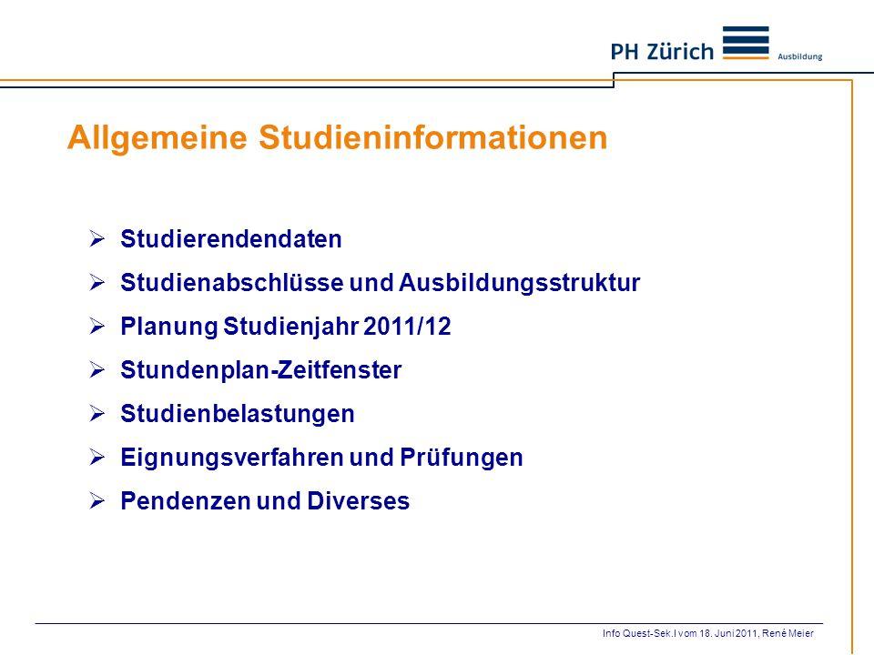 Allgemeine Studieninformationen