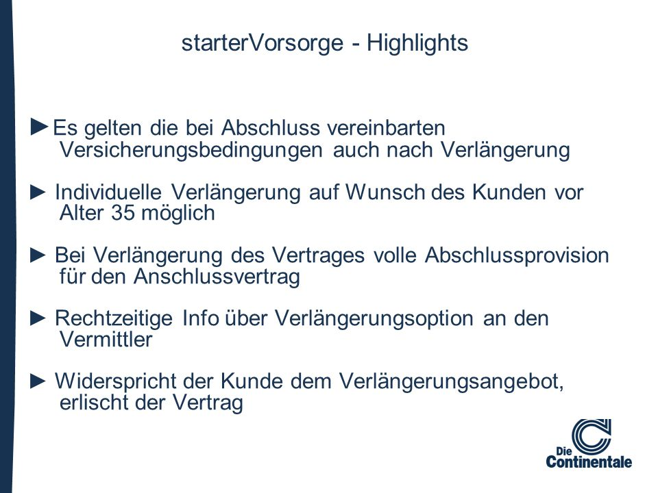 starterVorsorge - Highlights
