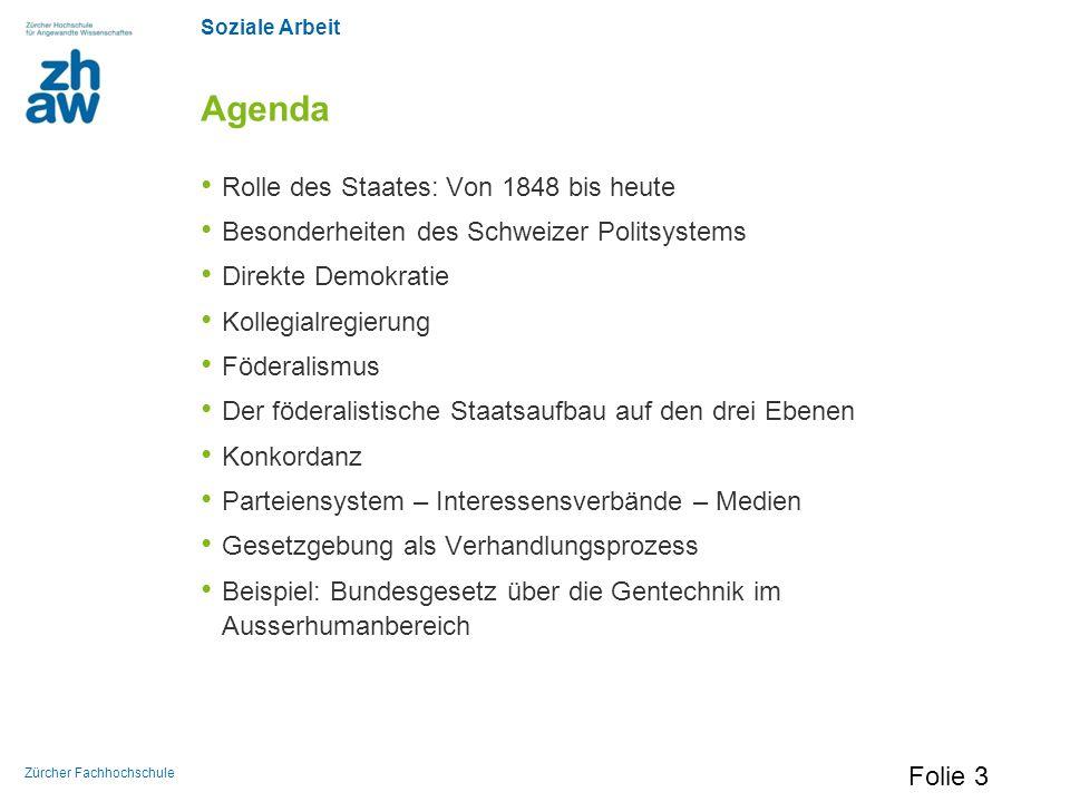 Agenda Rolle des Staates: Von 1848 bis heute