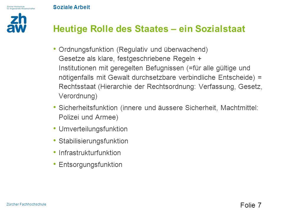 Heutige Rolle des Staates – ein Sozialstaat