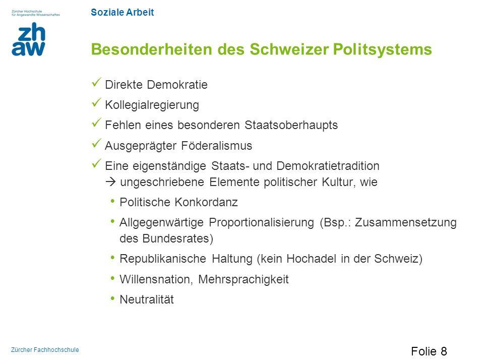 Besonderheiten des Schweizer Politsystems