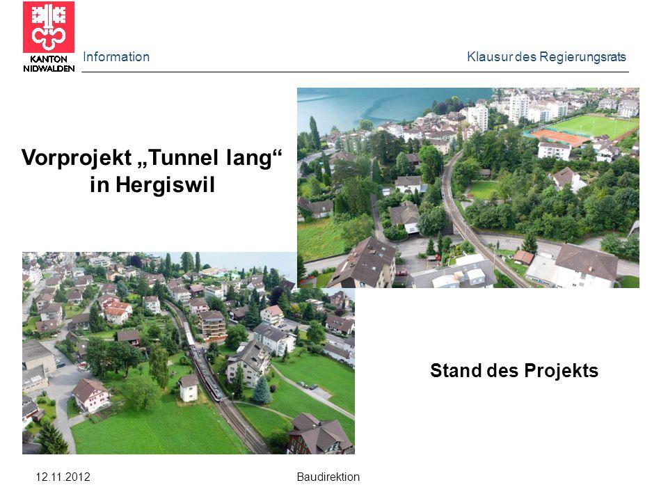 """Vorprojekt """"Tunnel lang"""