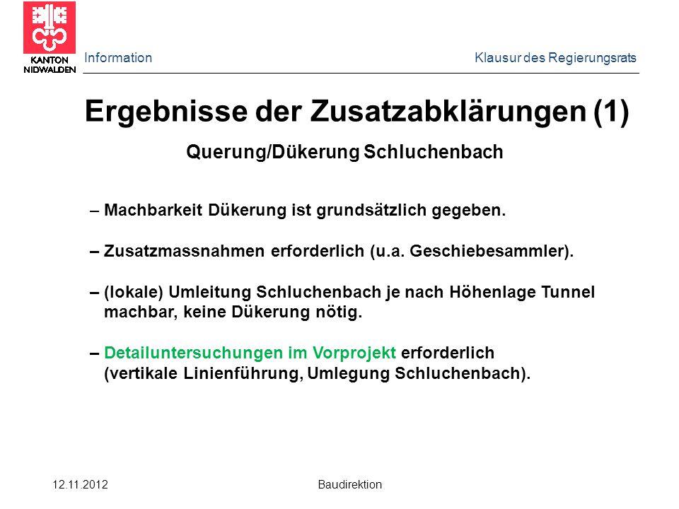 Ergebnisse der Zusatzabklärungen (1)