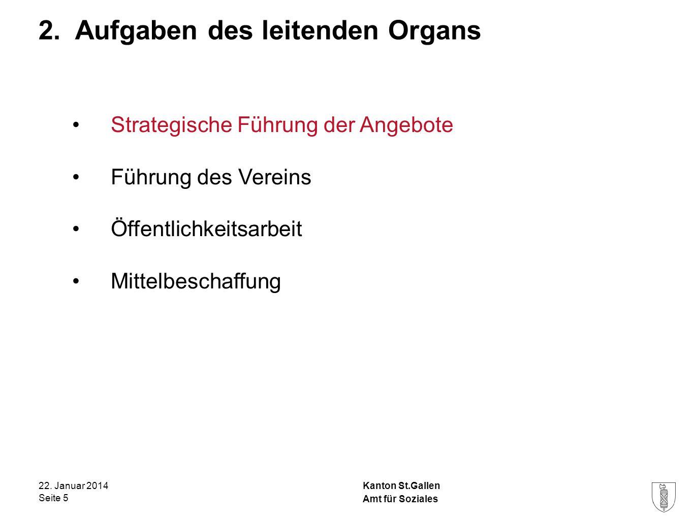 2. Aufgaben des leitenden Organs