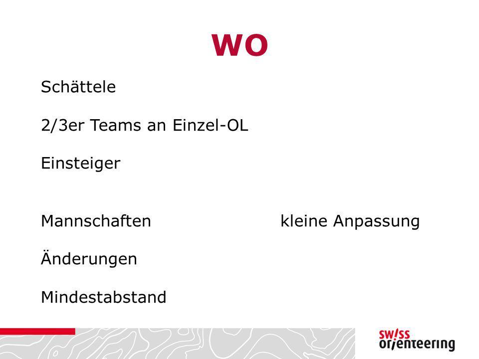 WO Schättele 2/3er Teams an Einzel-OL Einsteiger