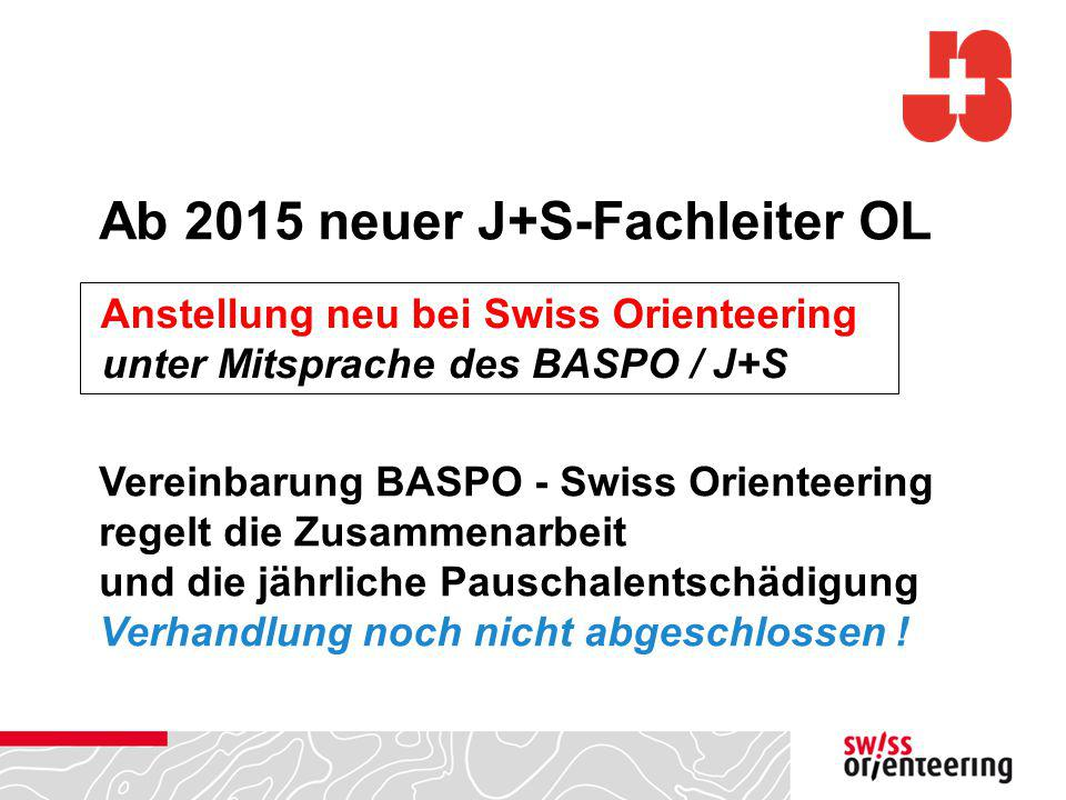 Ab 2015 neuer J+S-Fachleiter OL